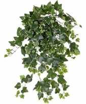 Goedkope groene witte hedera helix klimop kunstplant buiten
