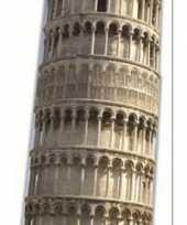 Goedkope groot decoratie bord toren pisa