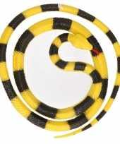 Goedkope grote rubberen speelgoed python slangen geel zwart