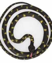 Goedkope grote rubberen speelgoed python slangen zwart