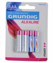 Goedkope grundig alkaline batterijen aaa stuks