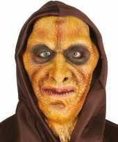 Goedkope hagedis man horror masker latex capuchon