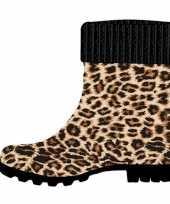 Goedkope half hoge dames regenlaarzen luipaard dierengoedkope