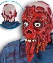 Goedkope halloween bloederig masker lange tong