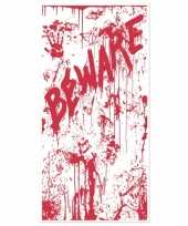 Goedkope halloween deurposter bloed