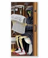 Goedkope halloween deurposter magere hein toilet