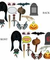Goedkope halloween foto prop set halloween dubbelzijdig