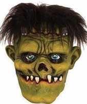 Goedkope halloween groen eng halloween frankenstein masker latex