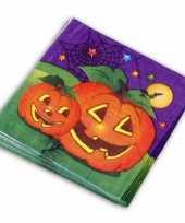 Goedkope halloween servetten pompoen stuks