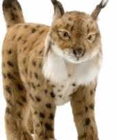 Goedkope hansa pluche knuffel lynx bruin
