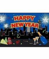 Goedkope happy new year decoratie vlag