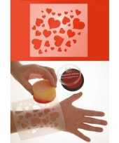 Goedkope hartjes schminksjabloon