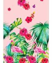Goedkope hawaii tafelkleed tafellaken flamingo roze groen