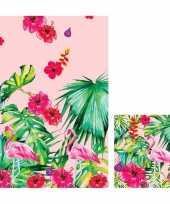 Goedkope hawaii thema tafeldecoratie set tafelkleed servetten