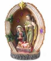 Goedkope heilige familie beeldje licht
