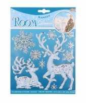 Goedkope hert sneeuwvlokken raam stickers