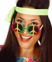 Goedkope hippie flower power peace verkleed bril