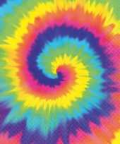 Goedkope hippie thema tie dye servetten stuks