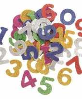 Goedkope hobby foam foam rubberen glitter cijfers gekleurd