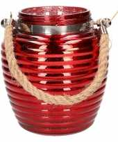 Goedkope home deco windlicht lantaarn rood