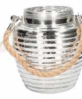 Goedkope home deco windlicht lantaarn zilver