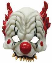 Goedkope horror clown half masker