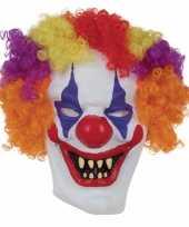 Goedkope horror clown masker volwassenen