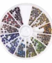 Goedkope hotfix gekleurde ronde strass steentjes stuks