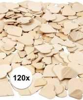 Goedkope houten mozaiek hartjes stuks 10117562
