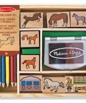 Goedkope houten paarden stempelset
