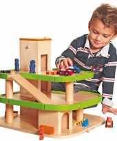 Goedkope houten speelgoed garage lift