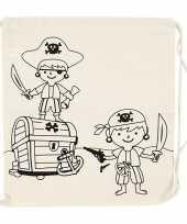 Goedkope inkleurbaar rugzakje piraat