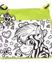 Goedkope inkleurbare zebra tas kinderen