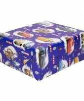 Goedkope inpakpapier cadeaupapier disney cars blauw x