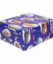 Goedkope inpakpapier cadeaupapier disney cars blauw