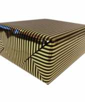 Goedkope inpakpapier cadeaupapier metallic goud zwart