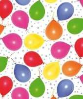 Goedkope inpakpapier cadeaupapier metallic wit ballonnen