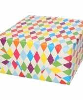 Goedkope inpakpapier cadeaupapier ruitjes design rol