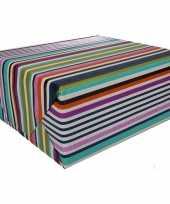 Goedkope inpakpapier gekleurde strepen rol type 10127272
