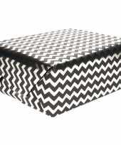 Goedkope inpakpapier zigzag zwart wit rol