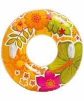 Goedkope intex zwemband oranje bloemen