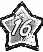 Goedkope jaar folieballon zwart zilver