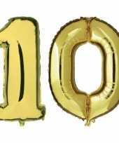 Goedkope jaar gouden folie ballonnen leeftijd cijfer