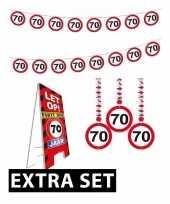 Goedkope jaar stopbord versiering set extra 10084444