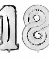 Goedkope jaar zilveren folie ballonnen leeftijd cijfer 10159384
