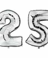 Goedkope jaar zilveren folie ballonnen leeftijd cijfer 10159387