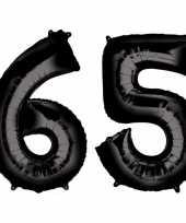 Goedkope jaar zwarte folie ballonnen leeftijd cijfer 10159357
