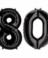 Goedkope jaar zwarte folie ballonnen leeftijd cijfer 10159360