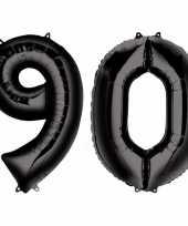 Goedkope jaar zwarte folie ballonnen leeftijd cijfer 10159361