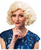 Goedkope jaren blonde dames pruik 10136121